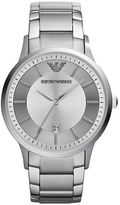 Emporio Armani Mens Stainless Steel Round Watch