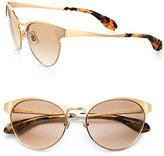 Miu Miu Retro Metal Cat's-Eye Sunglasses