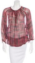 Isabel Marant Long Sleeve Silk Top