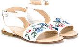 Ermanno Scervino embroidered flower sandals