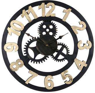 Orient Three Star Round Spinning Gears Wall Clock