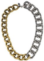 Lanvin Crystal Chain Link Necklace