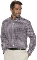 Croft & Barrow Men's Classic-Fit Checked Stretch Button-Down Shirt