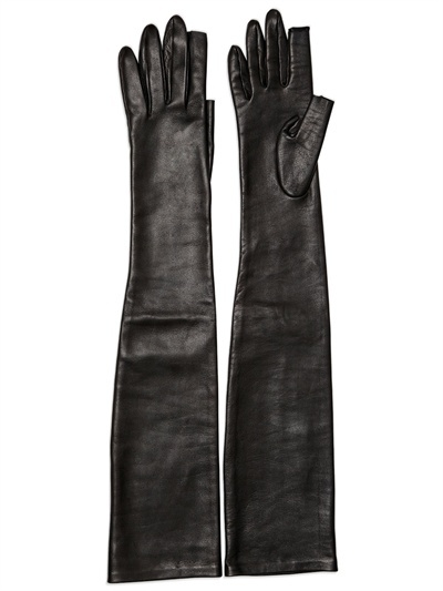 Rick Owens Leather Long Gloves