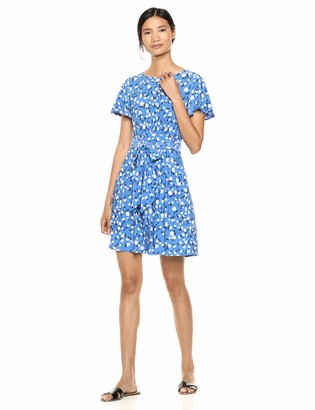 Chaps Women's Short Sleeve Printed Dress