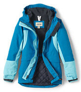 Lands' End Toddler Girls Squall Parka-Dark Poppy