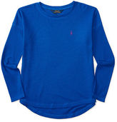 Ralph Lauren Waffle Cotton Long-Sleeve Top