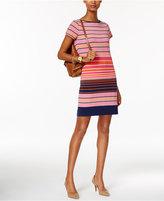 MICHAEL Michael Kors Striped Boat-Neck Shift Dress