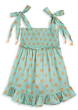 Zimmermann Kids Little Girl's & Girl's Kirra Tie-Shoulder A-Line Dress