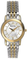 Bulova 98V29 Two-Tone Stainless Steel Band Classic Womens Watch