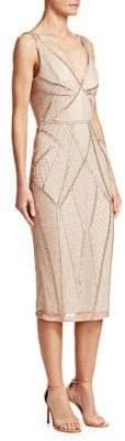 Rachel Gilbert Kylah Embellished V-Neck Dress