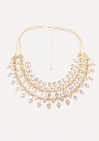 Bebe Crystal Layered Necklace