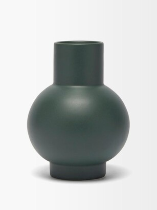 Raawii - Strm Large Ceramic Vase - Dark Green