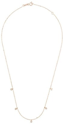 Kismet by Milka 14kt Rose Gold 5 Solitaire Diamond Necklace