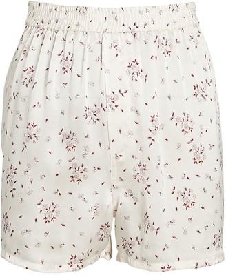 Frankie's Bikinis Fifi Silk Paisley Shorts