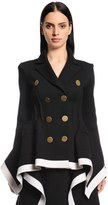 Sonia Rykiel Fitted Double Breasted Wool Knit Jacket