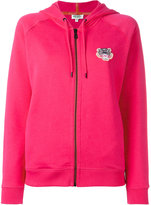 Kenzo logo hooded cardigan - women - Cotton - XS