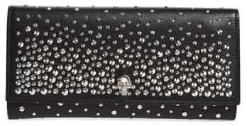 Alexander McQueen Studded Leather Travel Wallet