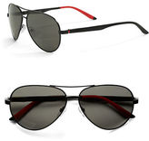 Carrera 65mm Oval Aviator Sunglasses