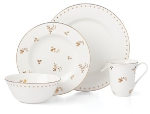 Lenox Dinnerware, Opal Innocence Carved Flourish 4 Piece Place Setting