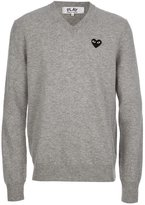 Comme des Garcons embroidered heart jumper - men - Wool - S
