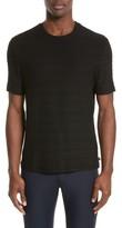 Armani Collezioni Men's Textured Stripe Crewneck T-Shirt