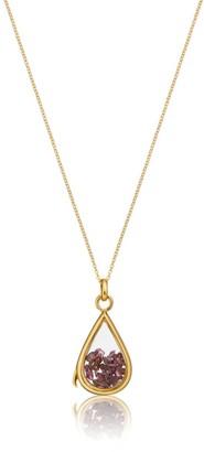 Lily & Roo Gold & Glass Garnet Birthstone Locket