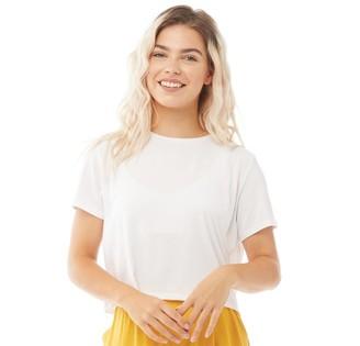 Noisy May Womens Elly T-Shirt Bright White