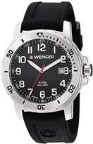 Wenger Men's 'Off Road' Swiss Quartz Stainless Steel and Silicone Casual Watch, Color:Black (Model: 01.1341.102)