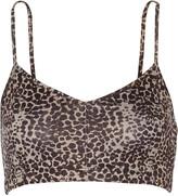 Live The Process Leopard-print stretch-Supplex® sports bra