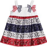 Bonnie Baby Red, White and Blue Bandana Dress, Baby Girls