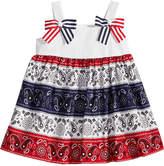 Bonnie Baby Red, White & Blue Bandana Dress, Baby Girls