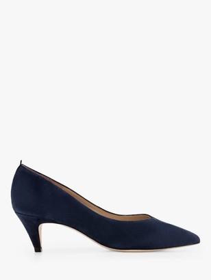 Boden Clara Suede Mid Heel Court Shoes