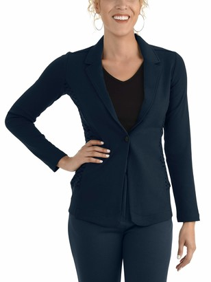 Seek No Further by Fruit of the Loom Women's Soft Stretch Long Sleeve Blazer