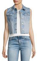 Rag & Bone Lou Light Wash Cropped Denim Vest