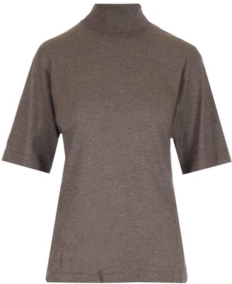 Brunello Cucinelli Turtleneck Short-Sleeve Top