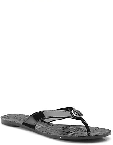 Tory Burch Thora Patent Leather Flip Flops