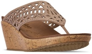Skechers Women's Cali Beverlee - Summer Visit Wedge Sandals from Finish Line