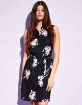 Lipsy Sleeveless Floral Print Shirt Dress