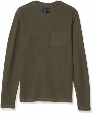 Lucky Brand Men's Long Sleeve Crew Neck One Pocket French Rib Thermal Shirt