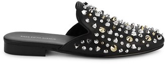 Saks Fifth Avenue Rumi Studded Leather Mules