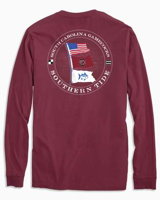 Southern Tide USC Gamecocks Flags Long Sleeve T-Shirt