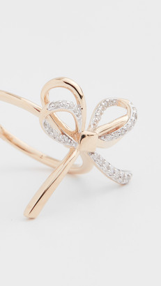 Adina 14k Large Pave Bow Ring