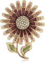 Napier Boxed Gold-Tone Flower Brooches and Pin