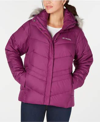 Columbia Women Peak To Park Insulated Faux-Fur-Trim Jacket