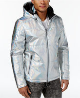 GUESS Men's Link Bonded Foil Puffer Jacket