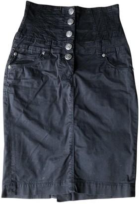Faith Connexion Black Cotton Skirt for Women
