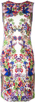 Roberto Cavalli allover print fitted dress