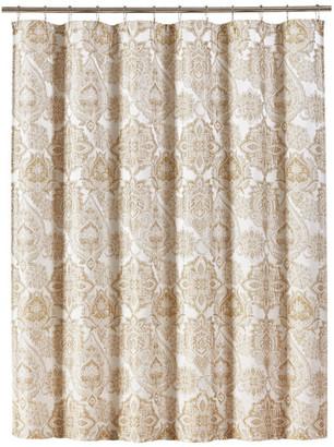 J Queen New York Five Queens Court Sandy Shower Curtain, Ivory