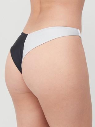 Calvin Klein Colour Block Brazilian Swim - Monochrome
